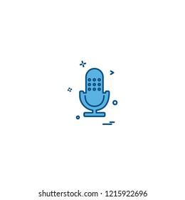Microphone icon design vector