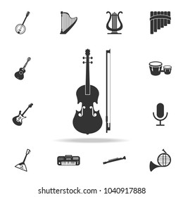 Microphone Icon. Detailed set icons of Music instrument element icons. Premium quality graphic design. One of the collection icons for websites, web design, mobile app on white background