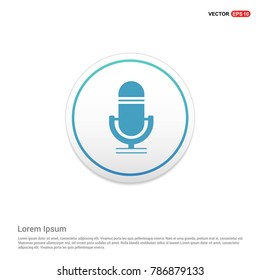 Microphone icon - EPS 10