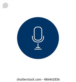 Microphone icon Flat.