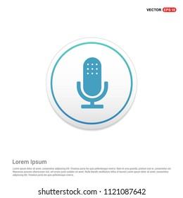Microphone icon Hexa White Background icon template - Free vector icon