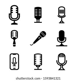 microphone icon isolated sign symbol vector illustration - Collection of high quality black style vector icons