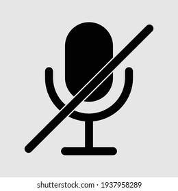 microphone icon isolated vector illustration