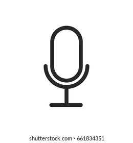Microphone icon, logo.