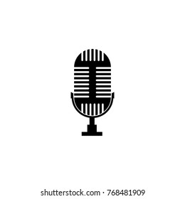 Microphone Icon. Music sign simple icon. Music element icon. Premium quality graphic design. Signs, outline symbols collection icon for websites, web design, mobile app on white background