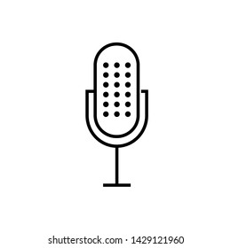 Microphone Icon. Record, Sound, Voice or Podcast Illustration As A Simple Vector Sign & Trendy Symbol for Design and Websites, Presentation or Mobile Application.