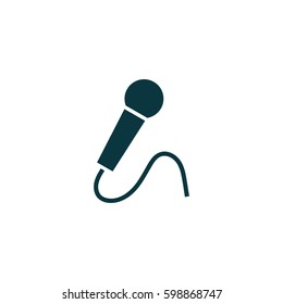 Microphone icon simple music sign vector illustration
