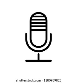 Microphone icon style flat trendy