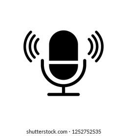 microphone icon trendy design template
