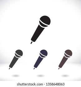 Microphone icon vector 10 eps design