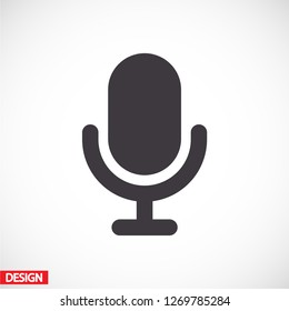 microphone icon. Vector  Eps 10