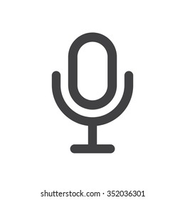 Microphone Icon vector flat design