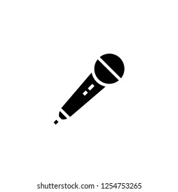 microphone icon vector. microphone vector graphic illustration