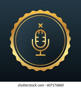 Microphone Icon. Vector Illustration Flat Isolated Premium Design Silhouette