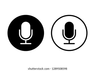 Microphone Icon vector. Mic sign. Karaoke microphone icon. Broadcast mic sign