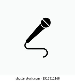 Microphone Icon - Vector, Sign and Symbol for Design, Presentation, Website or Apps Elements.