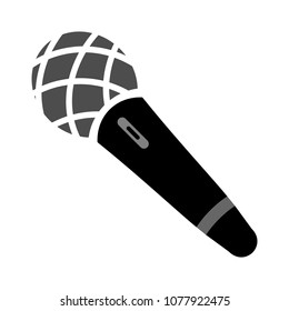 Microphone icon, vector sound music illustration - communication icon