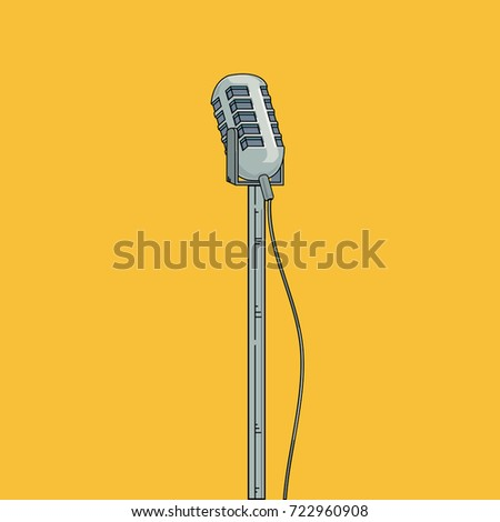 Microphone Icon Voice Recorder Interview Karaoke Stock