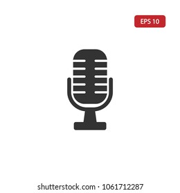 Microphone icon.Speaker vector.Sound sign isolated on white background. Simple  illustration for web and mobile platforms.