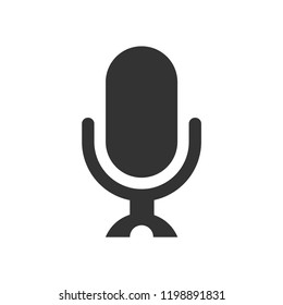 Microphone icon,speaker vector,sound sign isolated on white background, simple voice  illustration for web and mobile platforms.