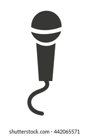 microphone isolated icon design