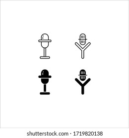 Microphone line icon, mic outline and solid vector illustration, linear pictogram isolated on white.