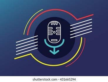 Microphone man human right to speak abstract vector illustration contain EPS10 format , design Layout