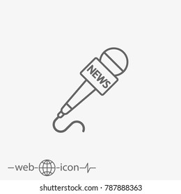 microphone news vector icon