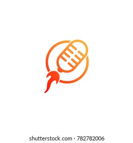 Microphone Rocket Logo