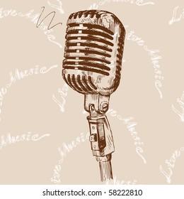 microphone seamless pattern