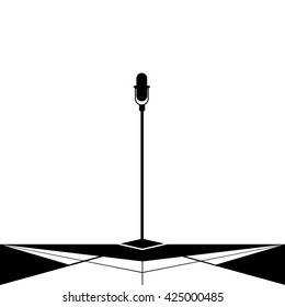 Microphone silhouette isolation
