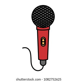 microphone sound isolated icon