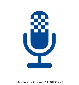 Microphone speaker icon for apps and websites – for stock vector