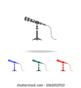 Microphone stand icon. Elements of disco and night life multi colored icons. Premium quality graphic design icon. Simple icon for websites, web design, mobile app, info graphics on white background