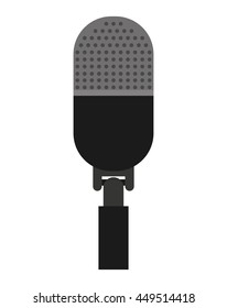 microphone stand isolated icon design, vector illustration  graphic