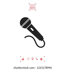 Microphone symbol icon