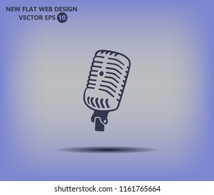 Microphone vector icon. An image of the microphone's reto.