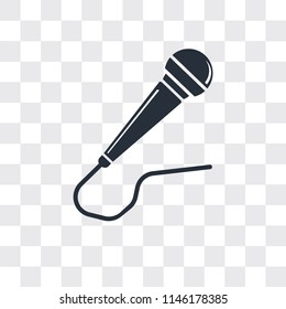 Microphone vector icon isolated on transparent background, Microphone logo concept