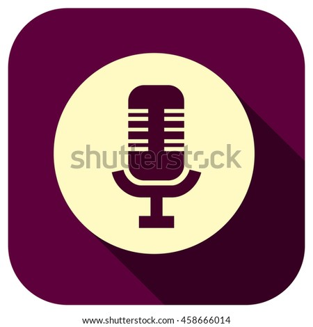 Microphone Vector Icon Mic Symbol Your Stock Vector Royalty Free