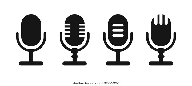 Microphone vector icon on white background