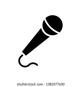Microphone vector icons in trendy flat style isolated on white background