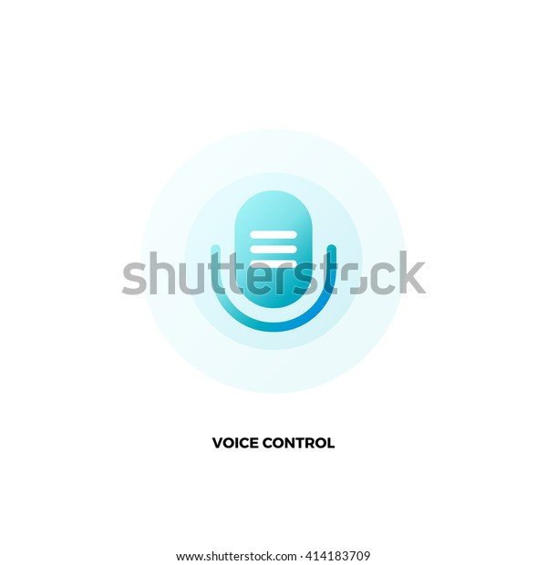 Microphone Vector Logo Voice Assistant Command Stock Vector