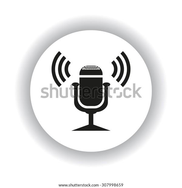 Microphone. Voice recording. icon. vector design