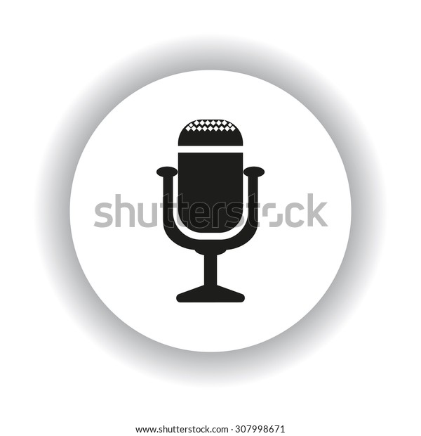 Microphone. Voice recording. icon. vector design