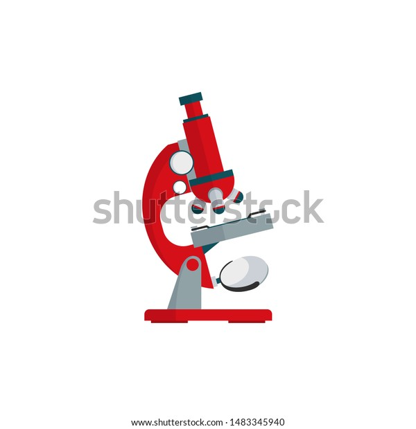 microscope cartoon vector flat design on stock vector royalty free 1483345940 shutterstock