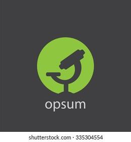 microscope cut identity template icon design element