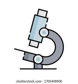microscope icon design color line style