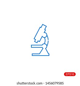 microscope icon with white background.vector illustration