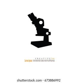 microscope icon.microscope.vector illustration.