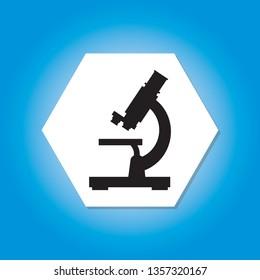 Microscope lab icon science illustration vector concept - vector